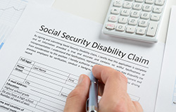 Social Security image of disability claim form