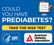 Images with graphic text asking Could You Have Diabetes, with the CDC and American Diabetes Association Logos