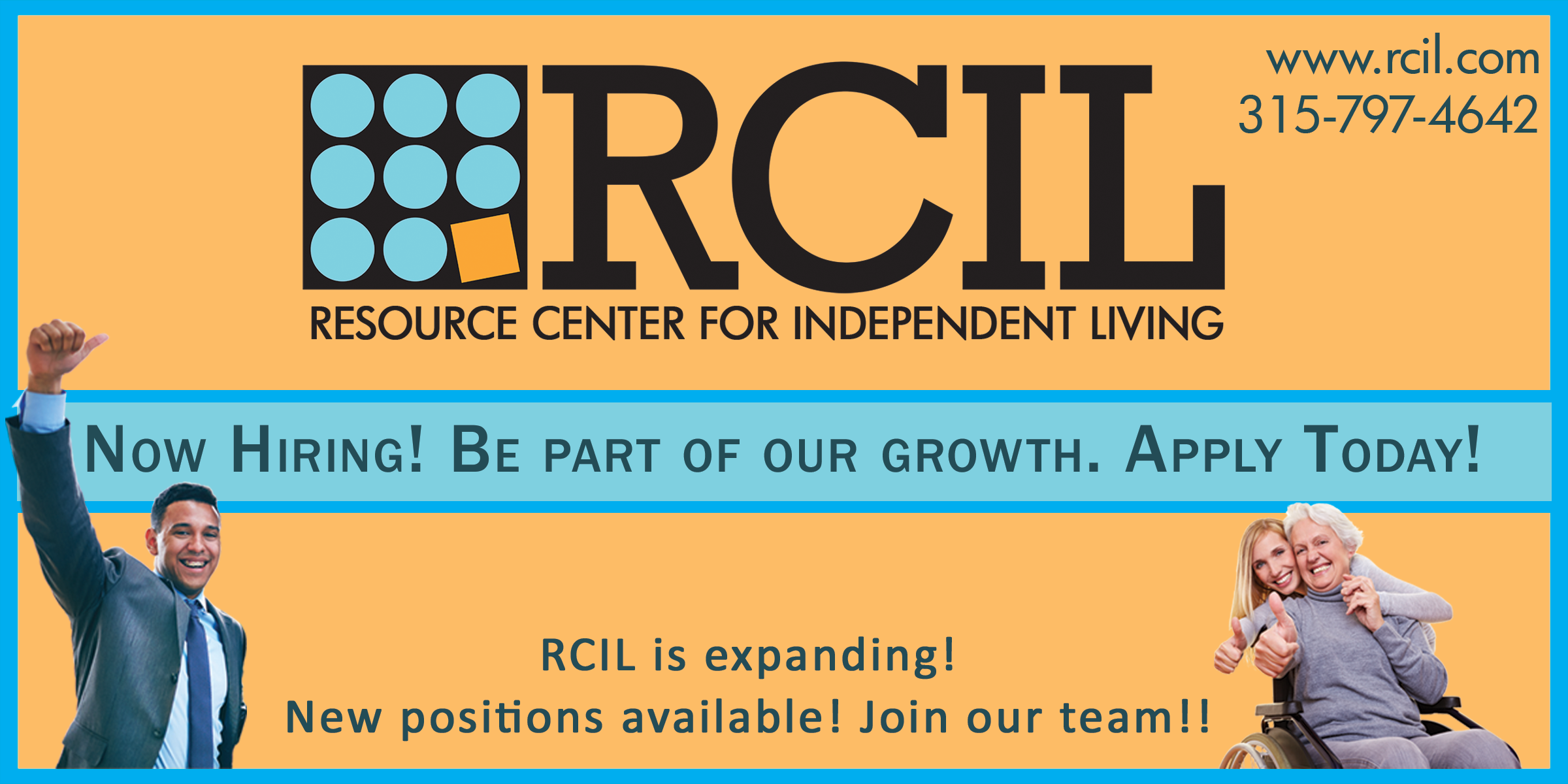 Careers job openings resource center independent living rcil rcil is now hiring be part of our growth click here to apply today falaconquin